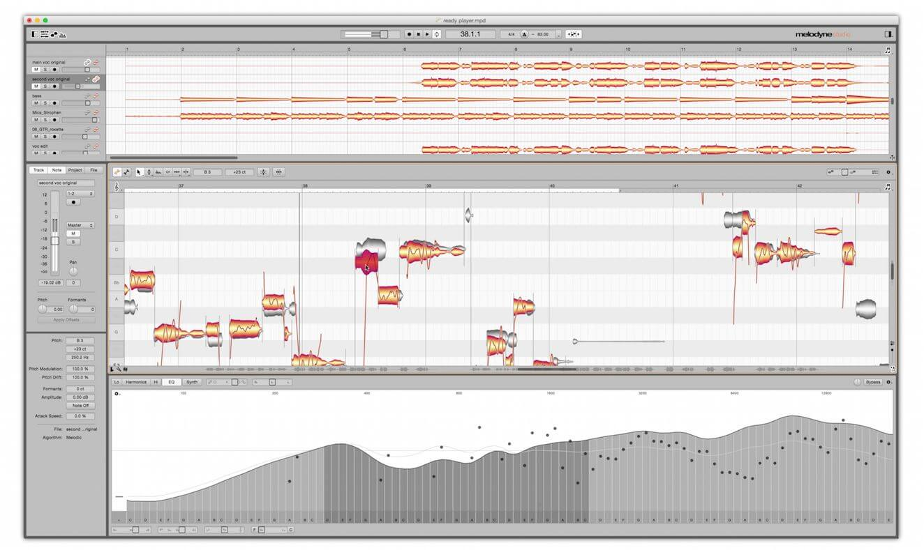 melodyne screen