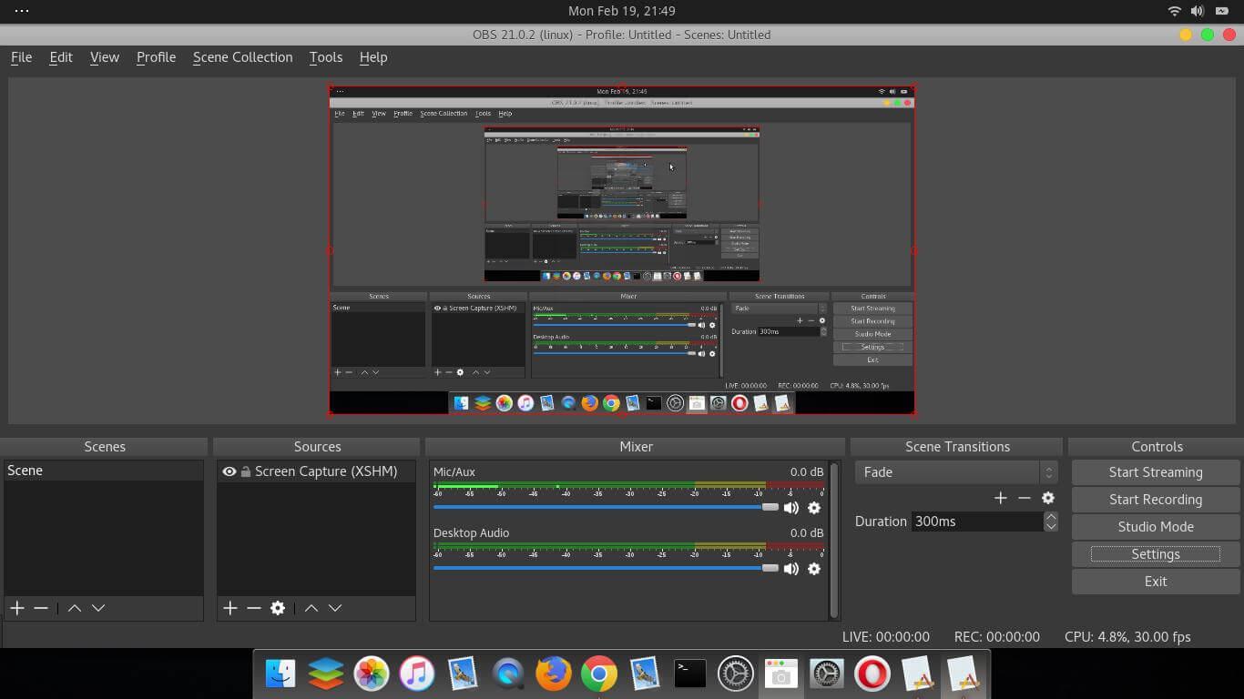 DJ stream programok obs-studio